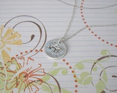 Sterling Silver Personalized Hand Stamped Pendant