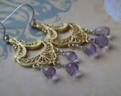 amethyst royal chandelier earrings