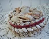 Vintage Trinket Box Shell Heart