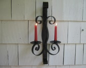 Vintage Candle Holder Gothic Wrought Iron