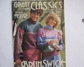 Vintage Pattern Book Sweaters Brunswick Yarns