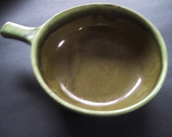 Vintage Bowl Casserole  Dish Green Ombre McCoy