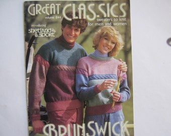 Vintage Pattern Book Sweaters Brunswick Yarns