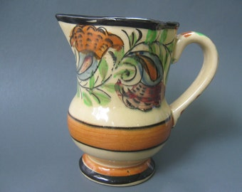 Vintage Pitcher Creamer Majolica Japan