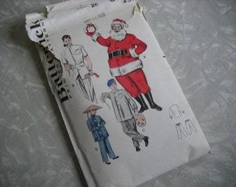 Vintage Pattern Santa Claus Doctor Chinese Costume Butterick 1960s