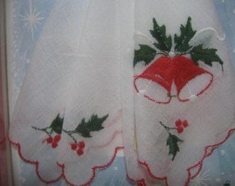 Vintage Christmas Handkerchief