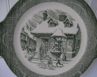 Vintage Cake Plate Old Curiosity Shop