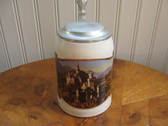 Vintage Stein Mug German Beer Bavarian Castle