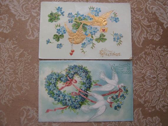 Vintage Postcards Friendship Greeting Card