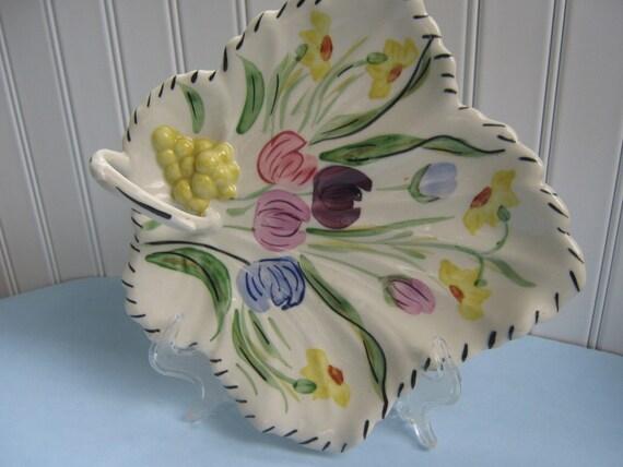 Vintage Dish Blue Ridge Maple Leaf