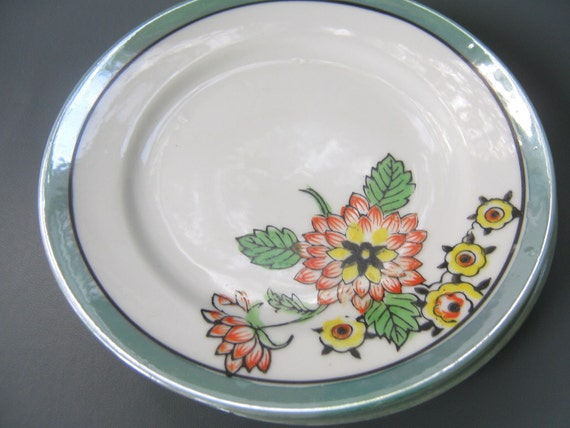 Vintage Lusterware Plate Dishes Japan