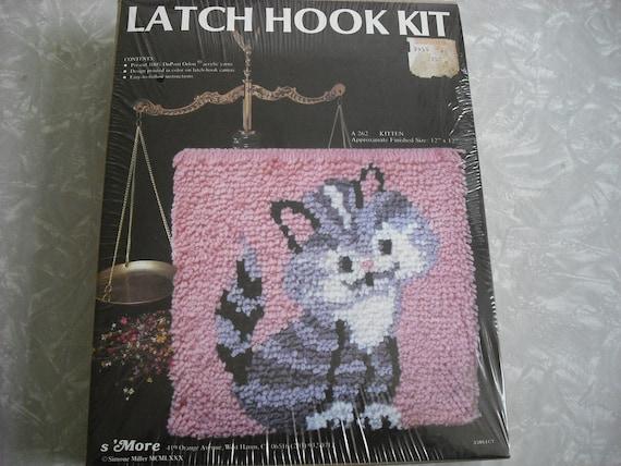 Vintage Latch Hook Kit Cat Kitten Kitty 1980