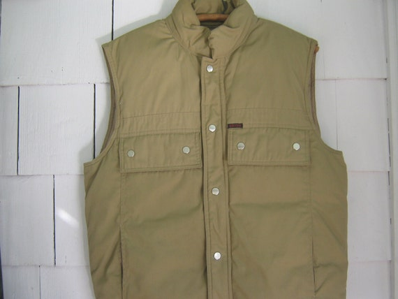 Vintage Down Vest Puffy Jacket