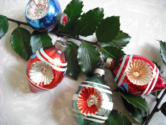 Vintage Christmas Ornaments Indent  Made in USA