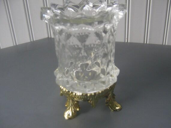 Vintage Candle Holder Floating Crystal Vase