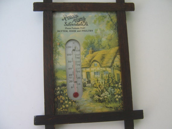 Vintage Farm Advertisement Thermometer  Forties