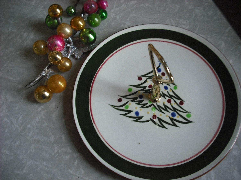 Vintage Stangl Plate Christmas Cookie Tree