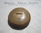 Reserved- 2 Wood Buttons- in Reclaimed Sassafras Wood- Knitting, Sewing, Craft Buttons