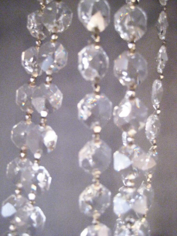 Crystal Octagon Garland Chain - Silver - 3 Feet - 1 Yards for Chandeliers, Jewelry, Home Decor and More