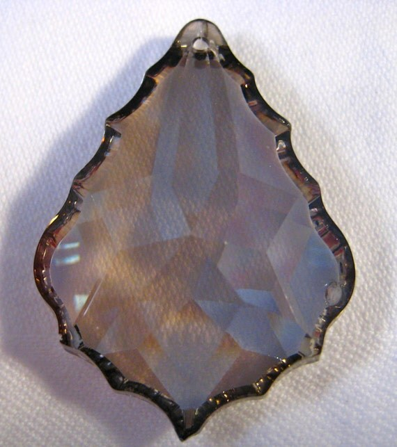 Satin French Pendalogue Cut Crystal Prism Pendant - 50mm