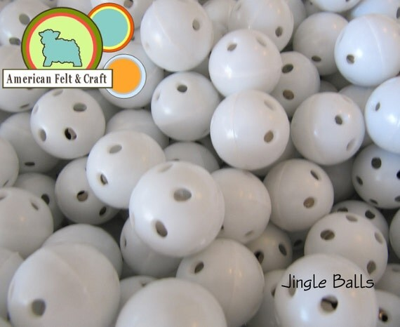 10 Jingle Bell ball inserts for making baby and pet toys. Meets EN71 and CPSIA standards for safety