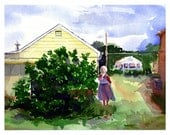 The Fig Tree  - Watercolor Print