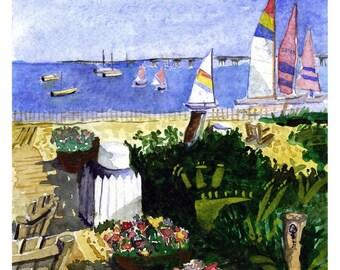 Cape Cod Sails - Watercolor Print