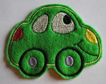 Green Felt Herbie The Love Bug Applique