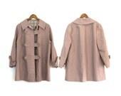 VINTAGE: light jacket purple heather brownish colour medium/large trench coat