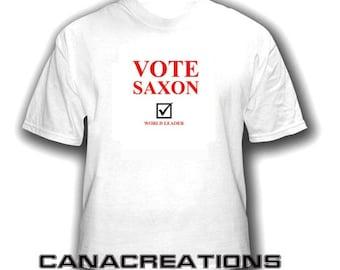 Dr. Who Vote SAXON T shirt.