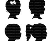 Custom SILHOUETTE Profile DETAILED and Professional Made to Order pdf for Mother's or Father's Day