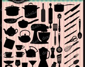 Kitchen Clip Art Silhouettes