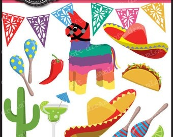 Mexican Fiesta Digital Clipart for Personal and Commercial Use