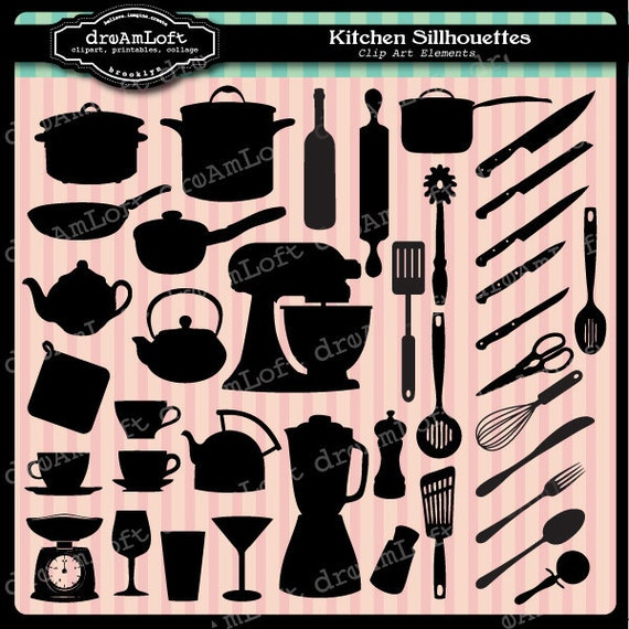 Kitchen Cabinet Clip Art: Kitchen Clip Art Silhouettes