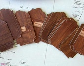 50 Beautiful, high quality, wood looking, recycled paper tags