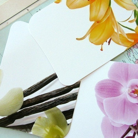 Beautiful, high quality, recycled paper cards - 9 pcs