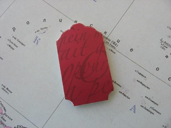 50 Beautiful, high quality, old style writing, recycled paper tags