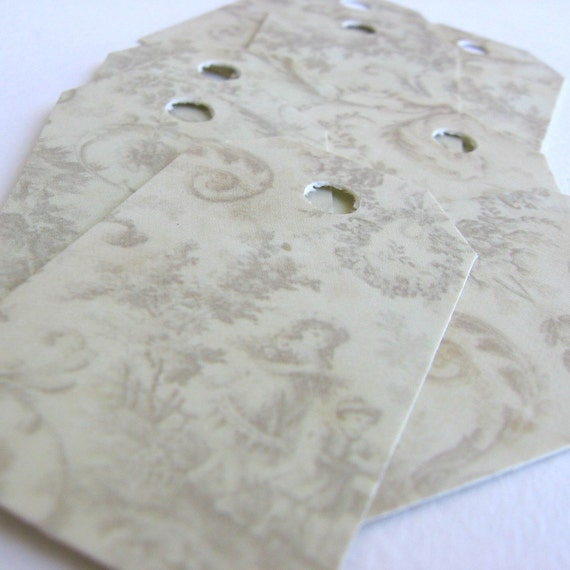 30 Beautiful, high quality, vintage design, romantic, SHABBY CHIC,  recycled paper shipping tags