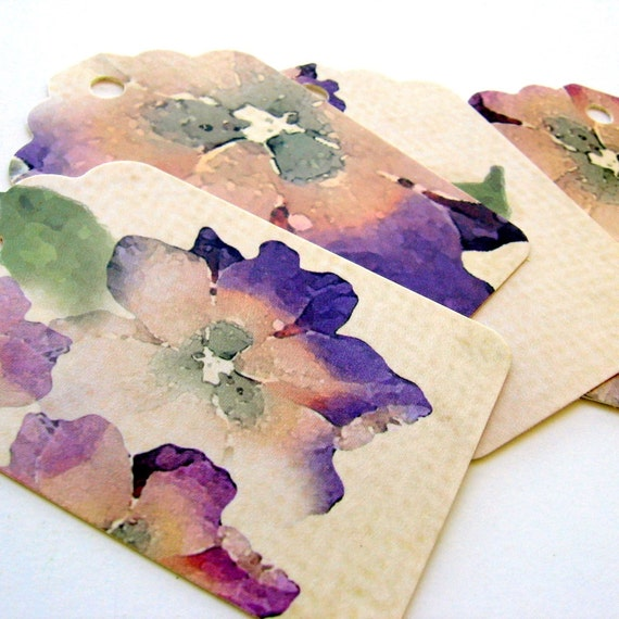 Shipping Tags price tags favor tags Recycled 20 pcs Fancy, high quality, Forget Me Not, romantic, SHABBY CHIC favor tags wedding cards