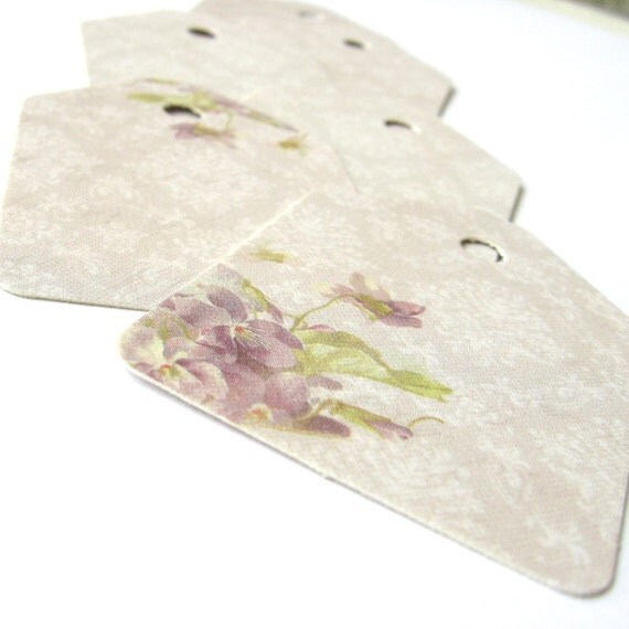 Romantic Lavender Lace30 High Quality Recycled Paper Shipping Tags