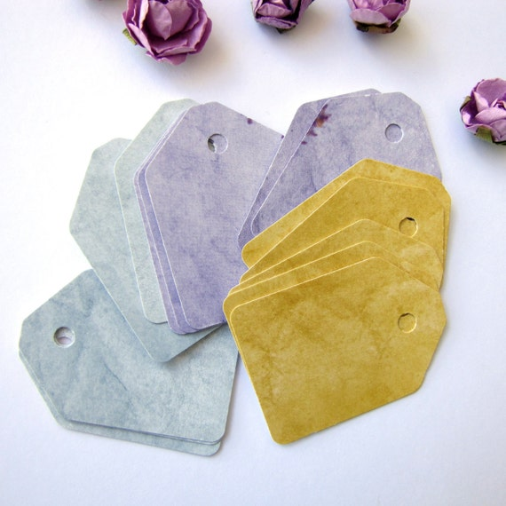 30 Fancy, high quality, Water Color Design,  recycled favor tags, shipping tags