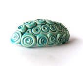 Aqua barrette, ceramic barrette, clay barrette, hair accessoires spring summer collection