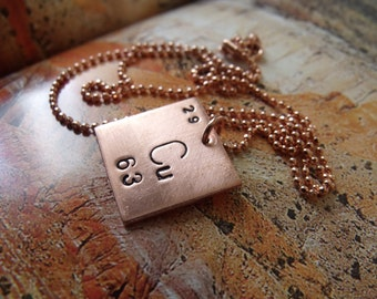 Copper Periodic Table of Elements Necklace - Cuprum