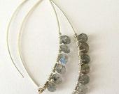Katherine handmade earrings - labradorite and sterling silver