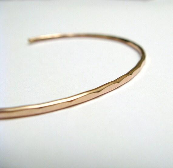 Ophelia Cuff Bangle Bracelet - Rose gold filled, custom size