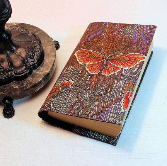 Butterflies Fabric Paperback Book Cover - Mass Market Size