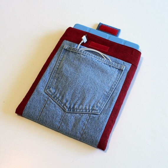 Recycled Denim iPad 1 or 2 or 3 Padded Sleeve