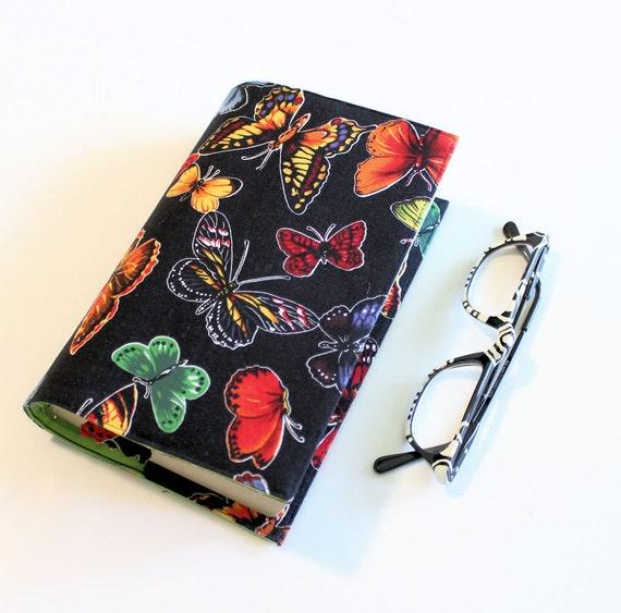 Bright Butterflies Fabric Paperback Book Cover - Mass market Size