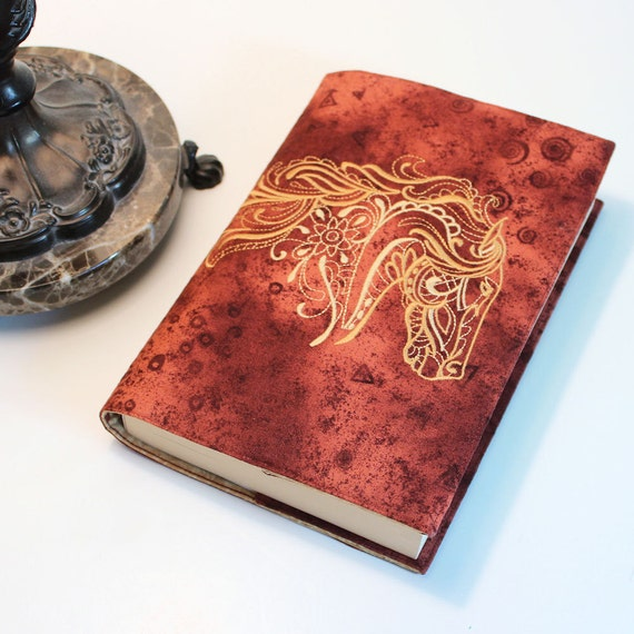 Trade Paperback Book Cover with Horse Machine Embroidery