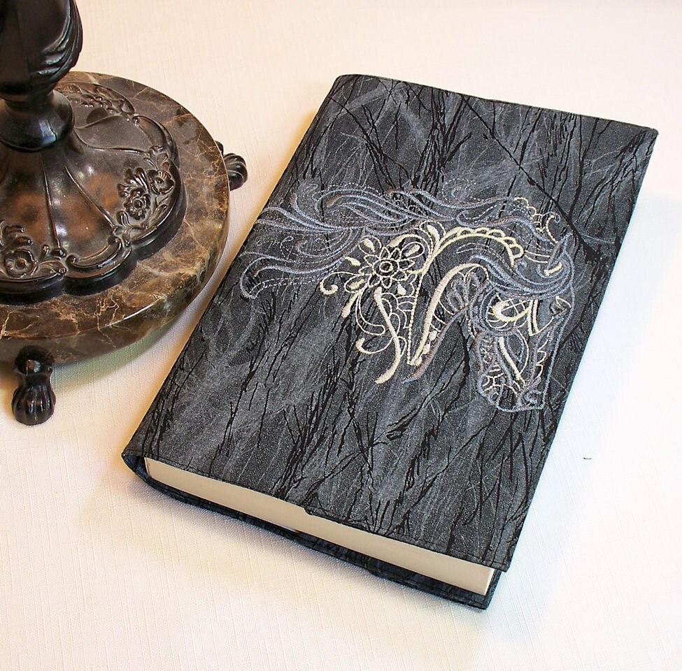 Book Covering Machine : Horse paperback book cover machine embroidered large trade
